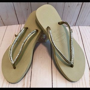New Jeweled Havaianas Flip Flops